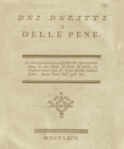 Il fallimento del carcere 250 anni dopo Beccaria