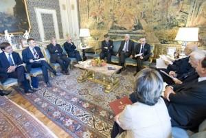 Il Presidente Napolitano ha ricevuto una delegazione dei firmatari dell'appello sul tema della giustizia