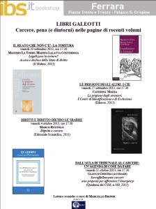 Libri galeotti a Ferrara