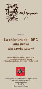 Iniziativa sugli OPG il 14 luglio a Firenze