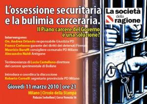 11 marzo. L'ossessione securitaria e la bulimia carceraria.