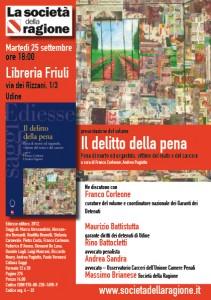 Il delitto della pena a Udine